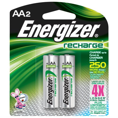 Energizer® AA ACCU Rechargeable High Energy Battery (2 Pack)