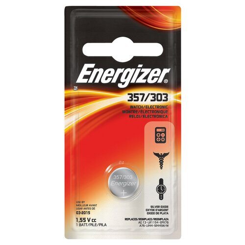 Energizer® 357/303 Watch and Calculator Battery