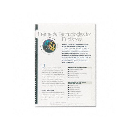 Fellowes Mfg. Co. Pvc Presentation Binding System Covers, 100/Pack