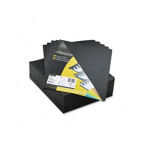 Fellowes Mfg. Co. Executive Presentation Binding System Cover, 8 3/4 x 11 1/4, Black, 200 per Pack