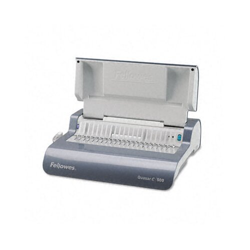 Fellowes Mfg. Co. Quasar Comb Binding System, 500 Sheets, 16-7/8W X 15-3/8D X 5-1/8H