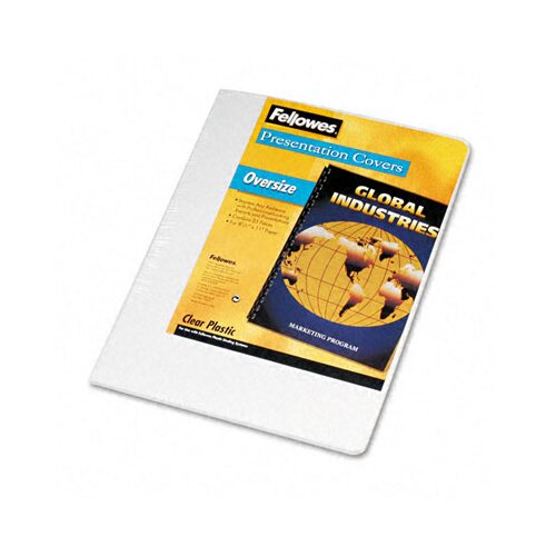 Fellowes Mfg. Co. Transparent PVC Binding System Covers, 8 1/4 x 11 3/4, Clear, 25 per Pack