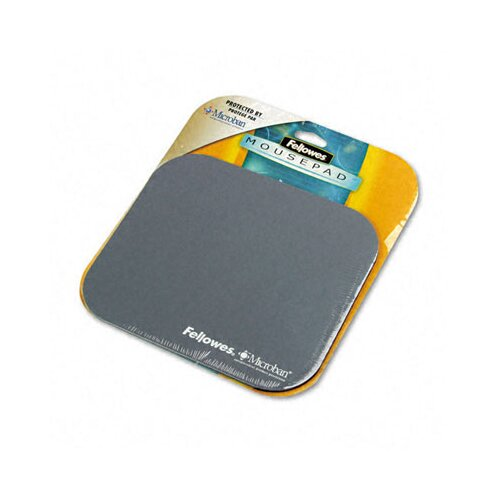 Fellowes Mfg. Co. Mouse Pad with Microban, Nonskid Base, 9 X 8