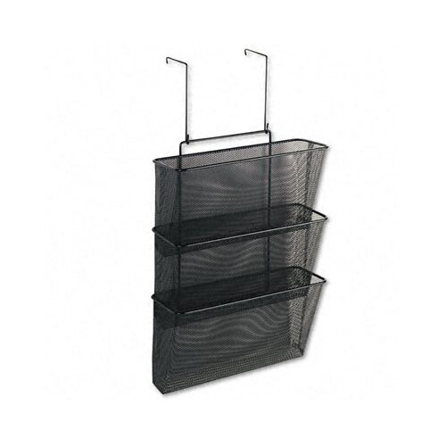 Fellowes Mfg. Co. Mesh Partition Additions Three-File Pocket Organizer