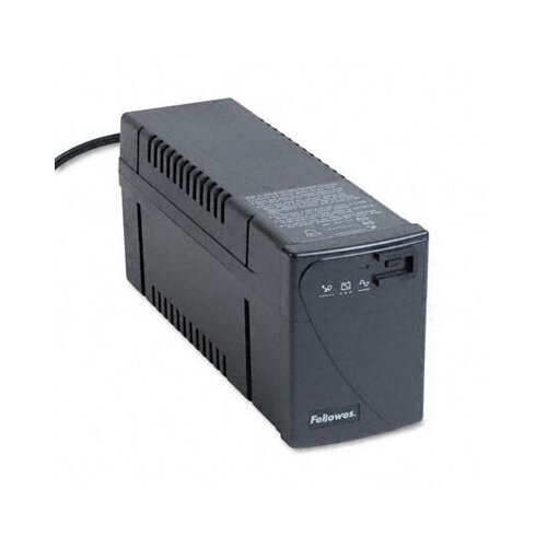 Fellowes Mfg. Co. Line Interactive with Avr Ups Battery Backup System, Four-Outlet 600 Volt-Amps