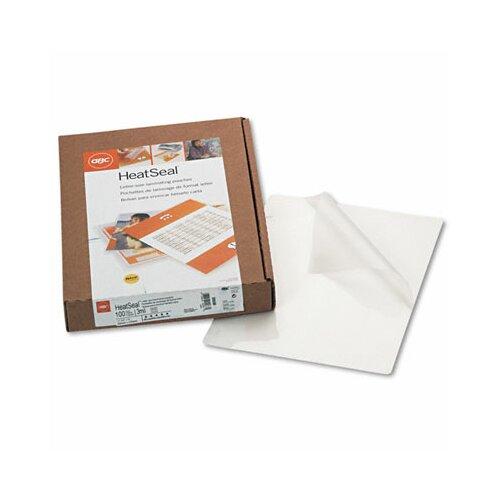 GBC® Swingline Heatseal Laminating Pouches, 3 Mil, 100/Box