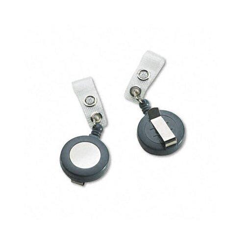 "GBC® Badgemates Plastic Retractable Name Badge Reel, 23"" Extension, 25/Box"