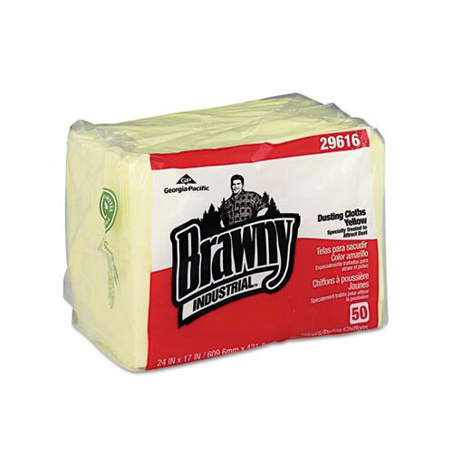 Georgia Pacific Brawny Industrial Dusting Cloths Quarterfold, 50/Pack, 4/Carton