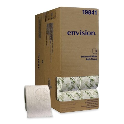 Georgia Pacific Envision Embossed 1-Ply Bathroom Tissue - 550 Sheets per Roll / 40 Rolls per Carton