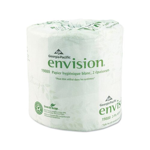 Georgia Pacific Envision Standard Bath 2-Ply Tissue - 550 Sheets per Roll
