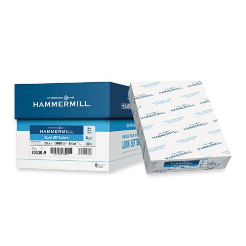 "Hammermill Colored Copy Paper, 20Lb, 8-1/2""x11"", 500/RM, Cherry"