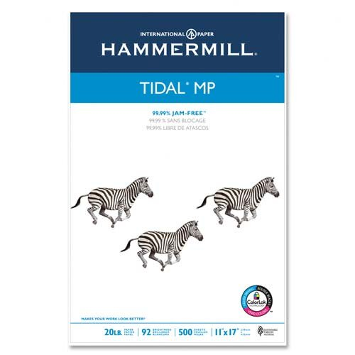 Hammermill MP Paper, 3HP , 20lbs, Letter, 92 GE/102 ISO, 500 Sheets per Ream, White