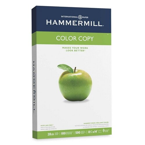 Hammermill Color Copy Paper, 100 Brightness, 28Lb, 8-1/2 X 14, 500/Ream