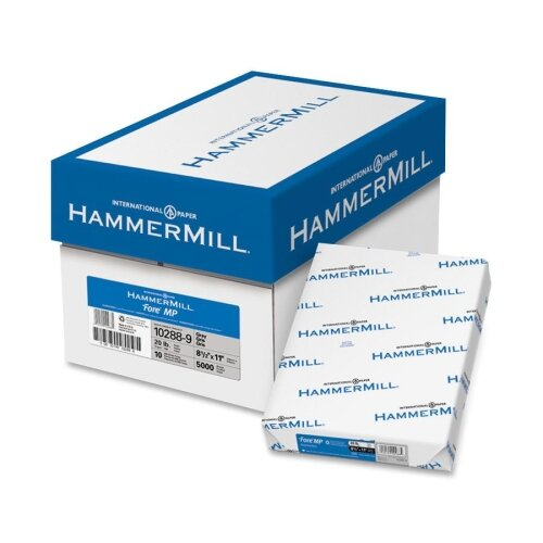 "Hammermill Colored Copy Paper, 20Lb, 8-1/2""x11"", 500/RM, Gray"
