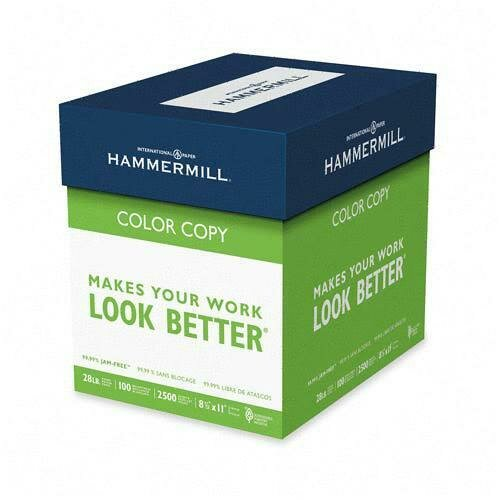 Hammermill Color Copy Paper, 28 lbs, Letter,100 GE/114 ISO, 5 Reams of 500 Sheets,White