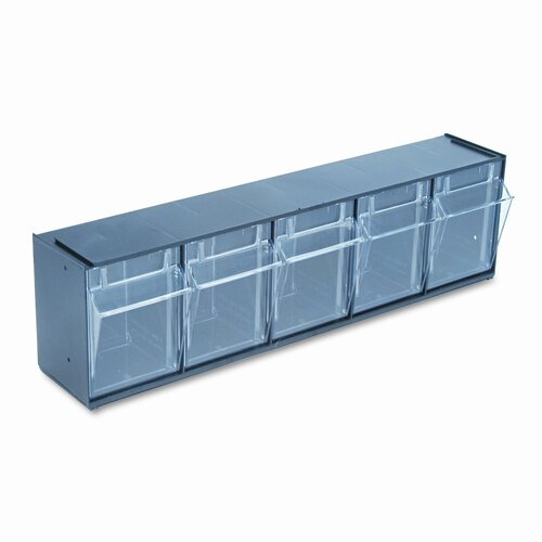 Deflect-O Corporation Tilt Bin Plastic Storage System with 5 Bins