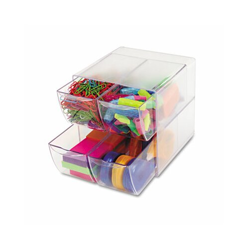 Deflect-O Corporation Desk Cube with 4 Drawers