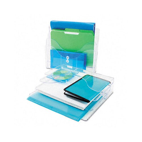 Deflect-O Corporation Three-Tier Document Organizer, Plastic