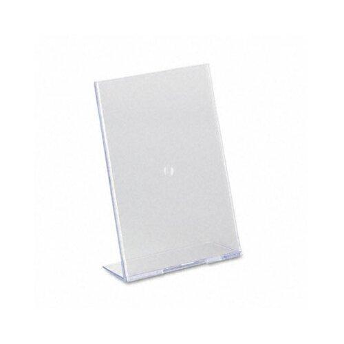 """Deflect-O Corporation Slanted Desk Sign Holder, 5"""" Wide"""