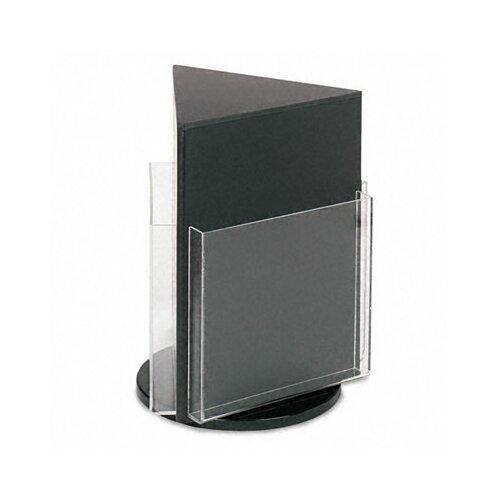 Deflect-O Corporation 3 Pocket Countertop Revolving Rack