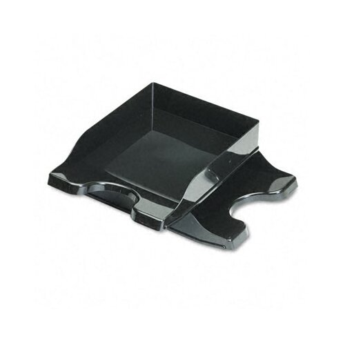 Deflect-O Corporation Docutray Multi-Directional Stacking Tray Set, Two-Tier, Polystyrene, Black