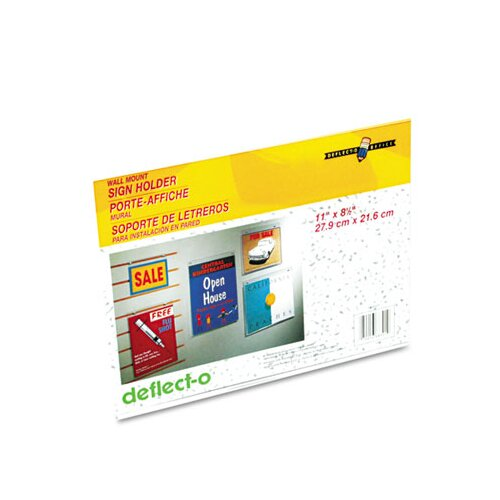 Deflect-O Corporation Classic Image One-Sided Wall Sign Holder, Plastic, 11 x 8-1/2