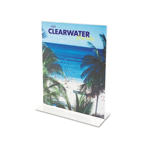 Deflect-O Corporation Classic Image Stand-Up Two-Sided Desktop Sign Holder, Plastic, 8-1/2 x 11