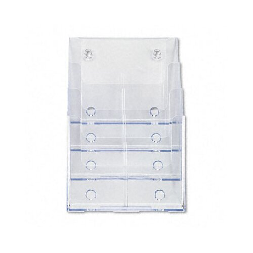 Deflect-O Corporation 4 Pocket Multi Compartment Docuholder