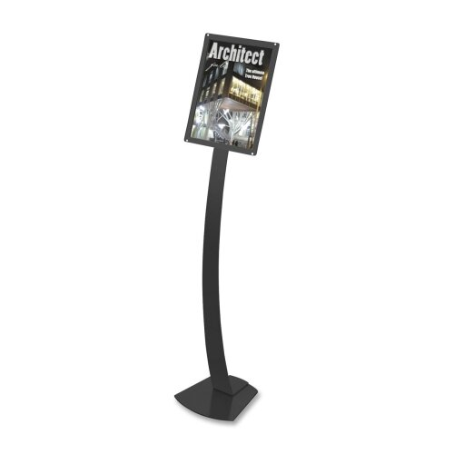 "Deflect-O Corporation Sign Stands, Holds 11""x17"", 12""x12""x56"", Black"