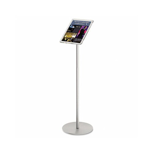 Deflect-O Corporation Floor Sign Display with Rear Literature Pocket