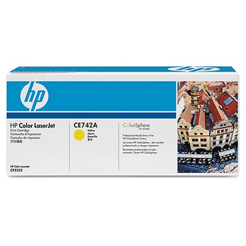 HEWLETT PACKARD SUPPLIES                           CE742A OEM Toner Cartridge, 7300 Page Yield, Yellow