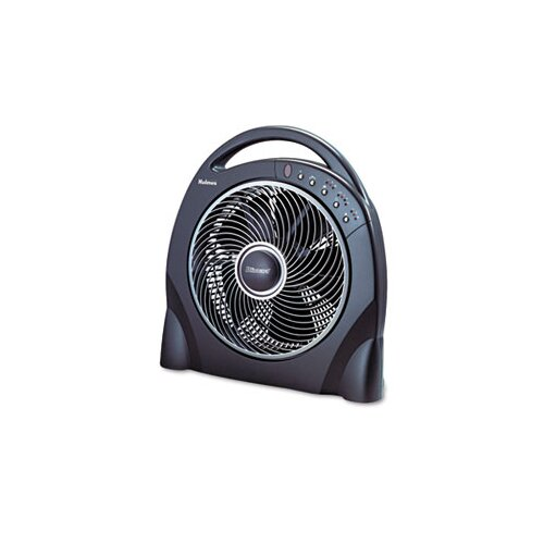 "Holmes® 12"" Oscillating Floor Fan with Remote, Breeze Modes, 8 Hour Timer"