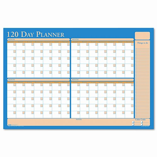 House of Doolittle Nondated Reversible Laminated Organizer, 90/120 Day
