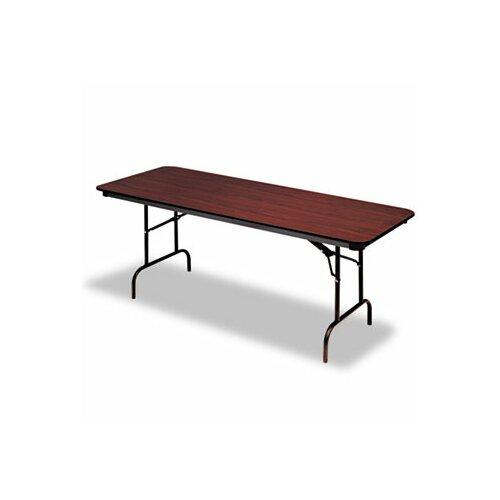 "Iceberg Enterprises Iceberg Premium Wood Laminate 60"" Rectangular Folding Table"