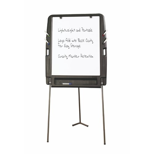 Iceberg Enterprises Portable Flipchart Easel 6.08' x 2.92' White Board