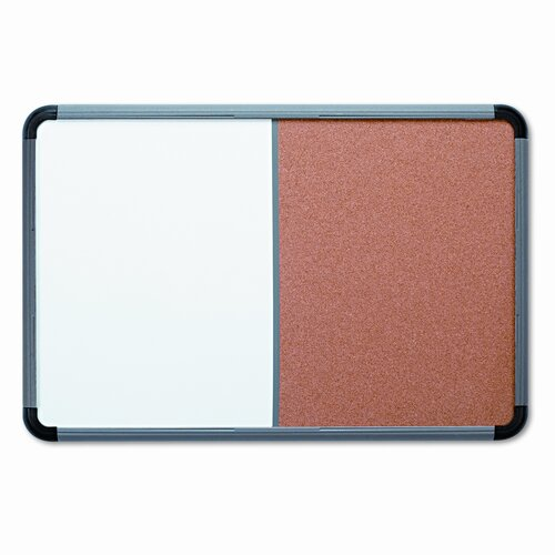 Iceberg Enterprises Combo Dry Erase/Fabric 3' x 4' WhiteBoard and Bulletin Board