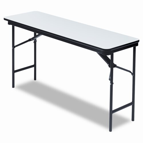 Iceberg Enterprises Wood Rectangular Folding Table