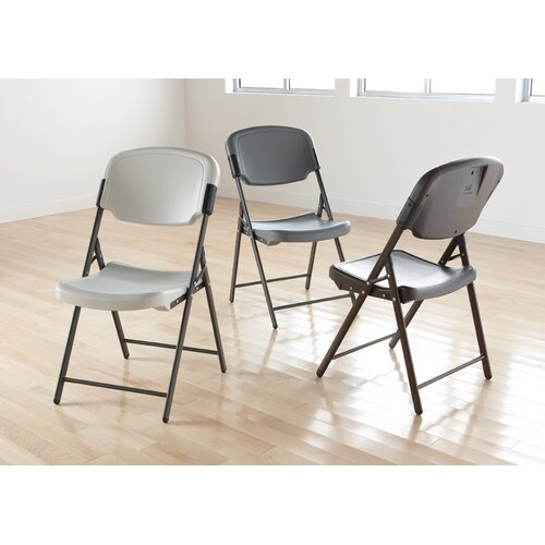 Iceberg Enterprises Economy Folding Chair in Platinum (Pack of 4)