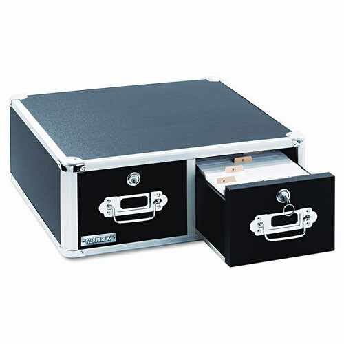 Ideastream Products Vaultz Vaultz Locking 6 X 4 Two-Drawer Index Card Box