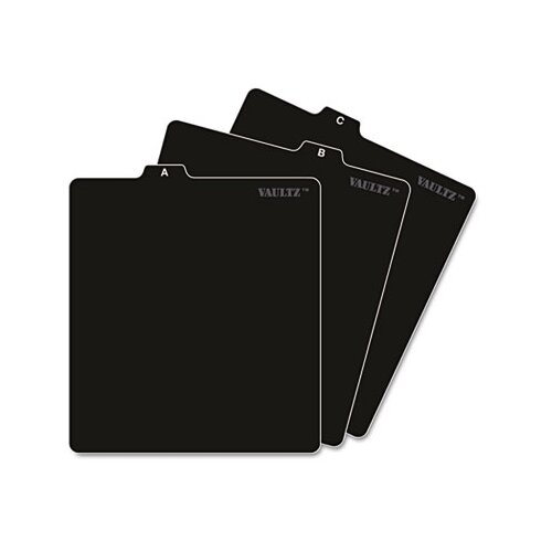 Ideastream Products A-Z CD File Guides, 5 x 5 3/4, Black