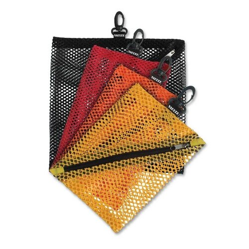 Ideastream Products Mesh Storage Bags, w/ Zipper and Clip, 4 per Pack, Assorted