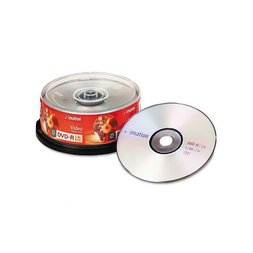 Imation DVD-R Disc, 25/Pack