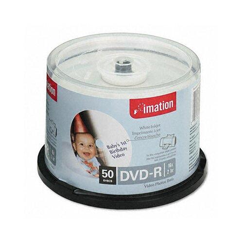 Imation Inkjet Printable DVD-R Disc, 50/Pack