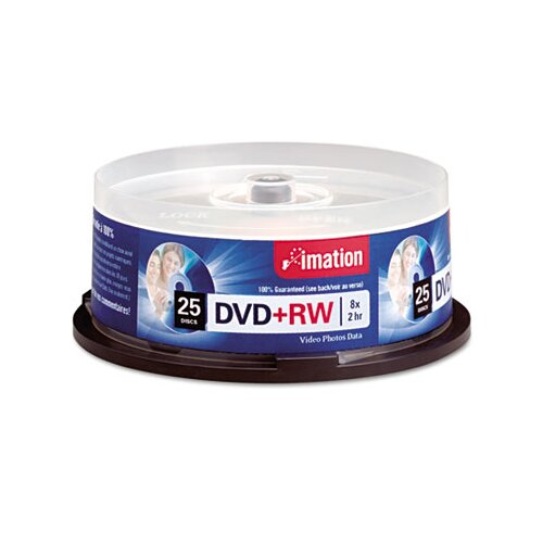 Imation DVD+RW Disc, 25/Pack