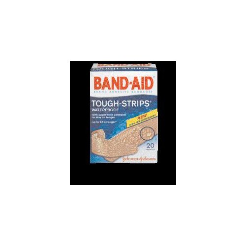 Johnson & Johnson BAND-AID® Tough Strips™ Waterproof Bandages (20 Per Box)