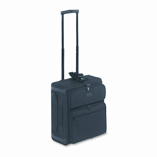 Kantek LGCC218 Rolling Dual-Side Notebook/Overnight Case, Nylon, 15 x 10 x 18, Black