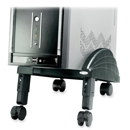 Kantek CPU Stand, Angled, Mobile, Swivel Casters