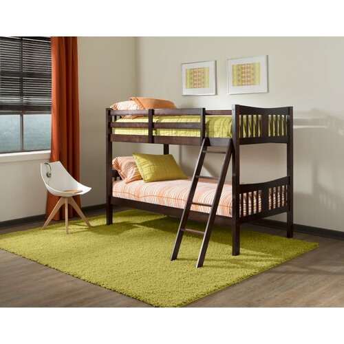 Storkcraft caribou twin over twin bunk bed with ladder for Stork craft caribou bunk bed