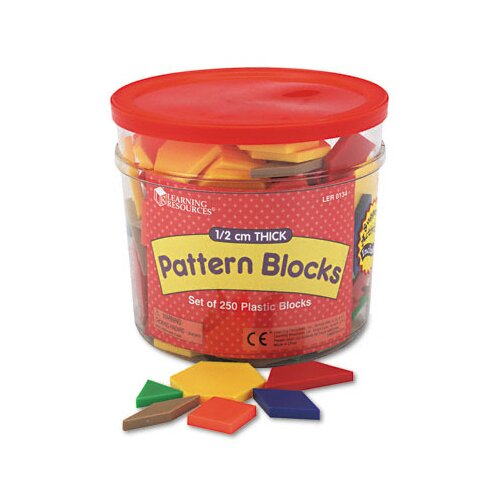 Learning Resources® Pattern Blocks, Grades Pre-K and Up 250 Piece Set
