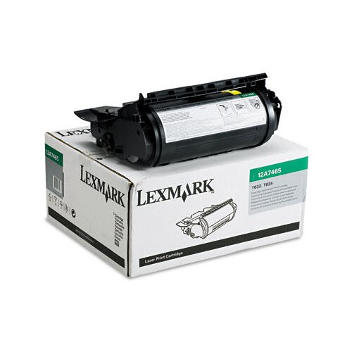 Lexmark International 12A7465 Extra High-Yield Toner, 32000 Page-Yield
